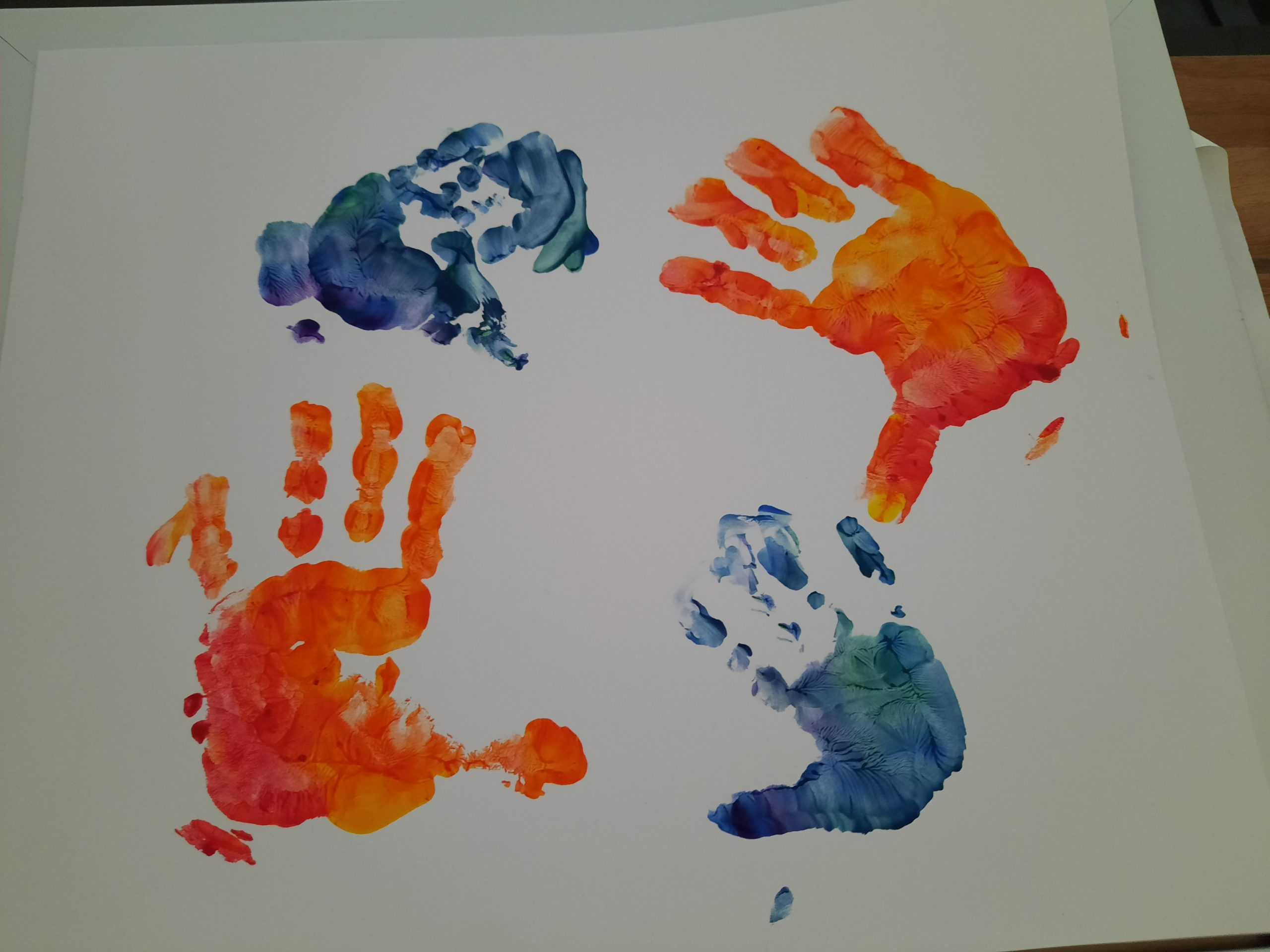 How to make handprint paintings