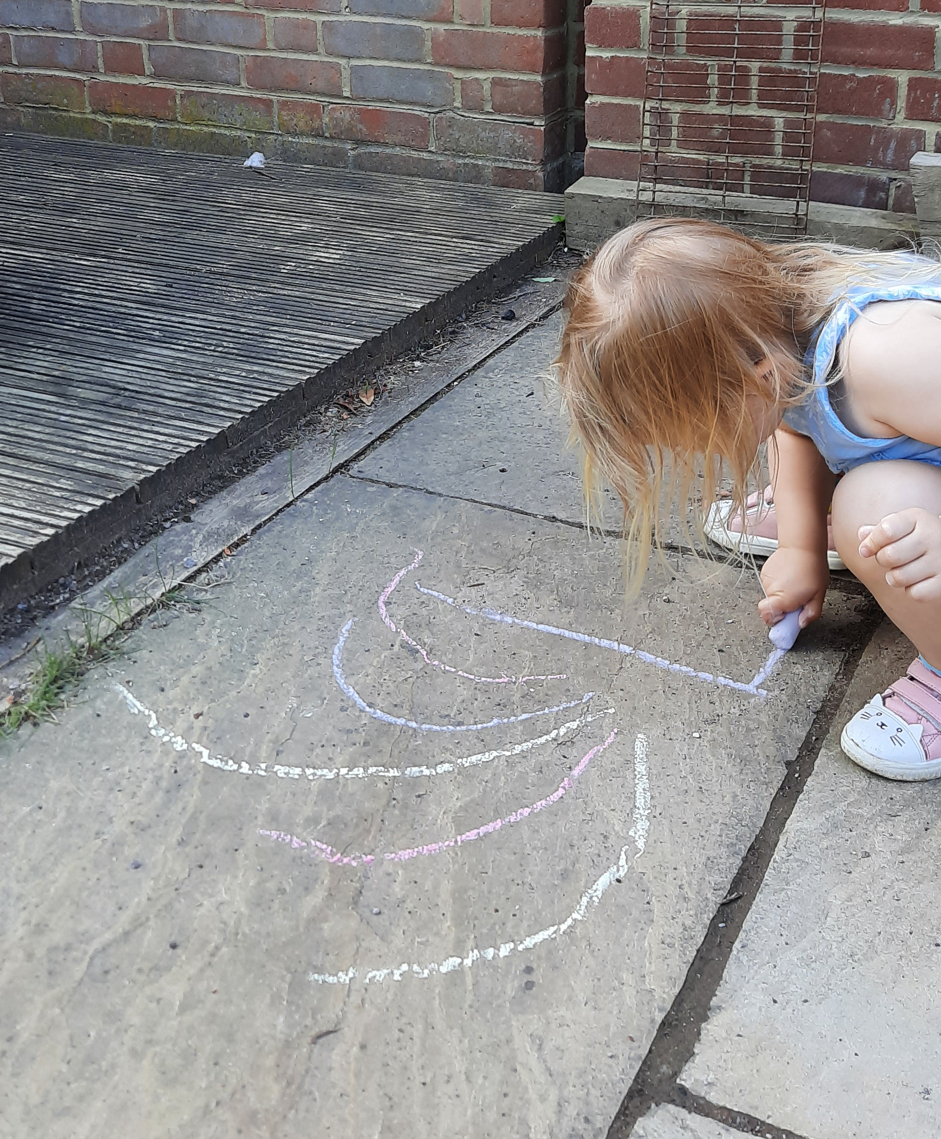 Making chalk rainbows
